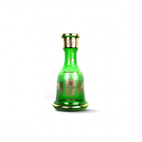 VASE SKULL EGERMAN GOLD & GREEN